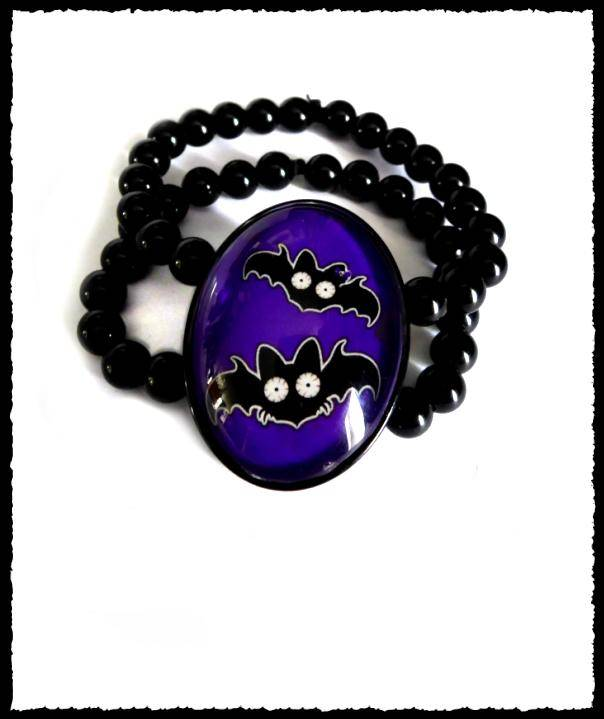 Bracelet large Bats purple