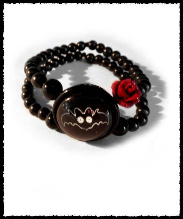 Bracelet small flappy with rose