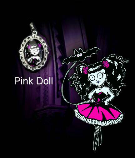 Necklace Doll pink