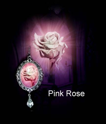 Necklace Pink Rose