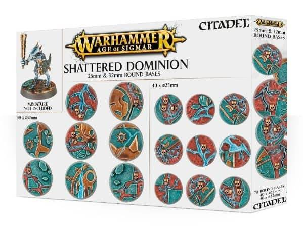 Warhammer - AOS: Shattered Dominion 25&32mm round bases (66-96)