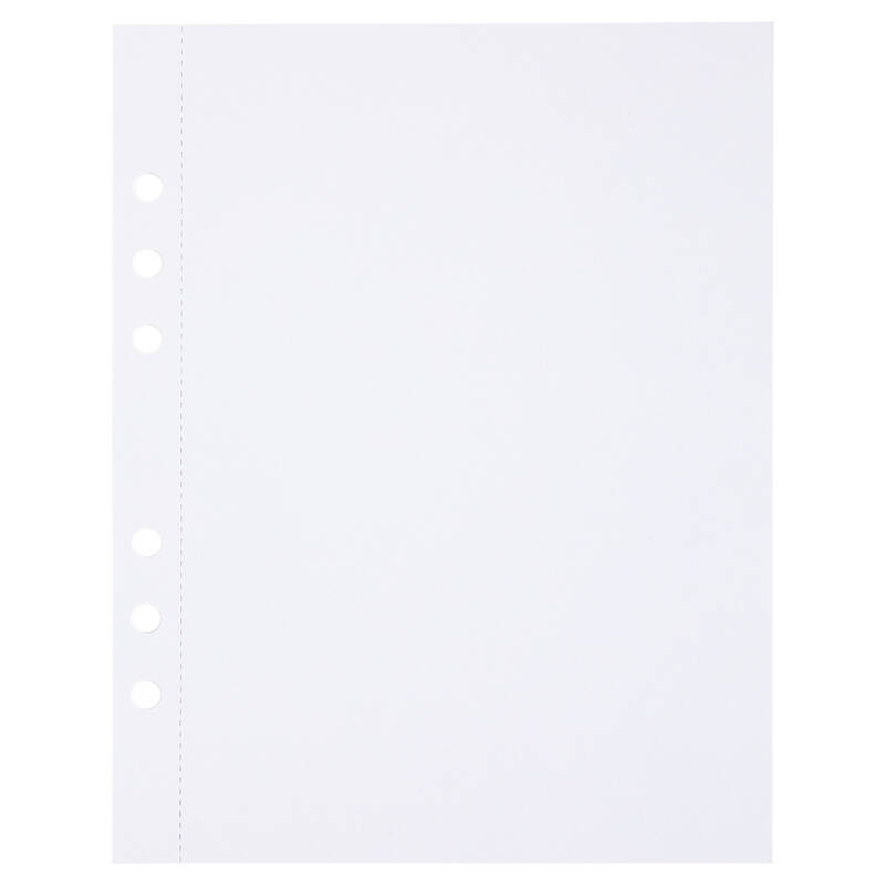 (Art.no. 920807) 20 vel MyArtBook Paper 120 GSM White Paper Size 165 x 210 mm (A5) - 6 punch holes - perforation