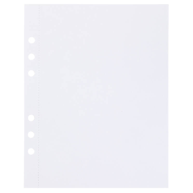 (Art.no. 920806) 20 vel MyArtBook Paper 160 GSM Ultrasmooth white Paper Size 165 x 210 mm (A5) - 6 punch holes - perforation