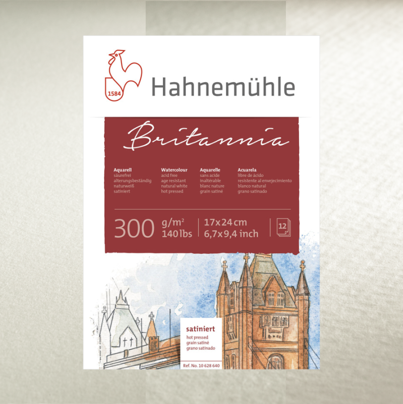 Hahnemühle Britannia 300 gsm - cold pressed, rough and hot pressed