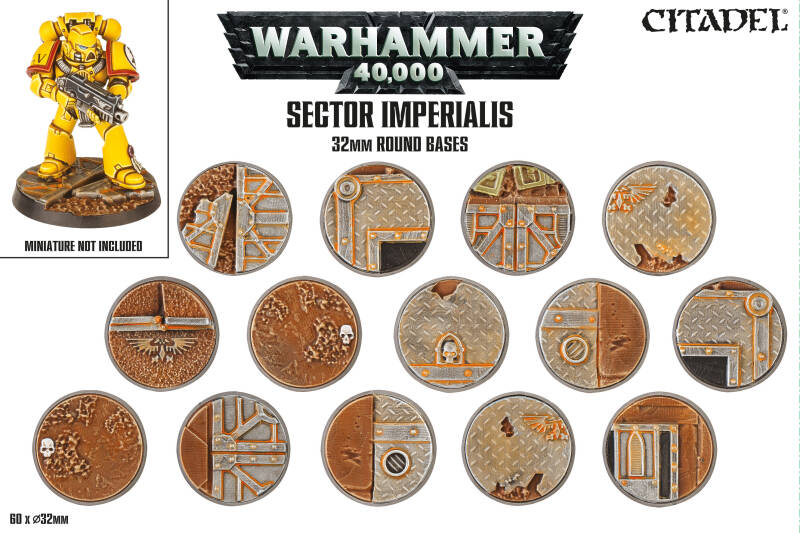 Warhammer - Sector Imperialis - 32 mm round bases  (66-91)