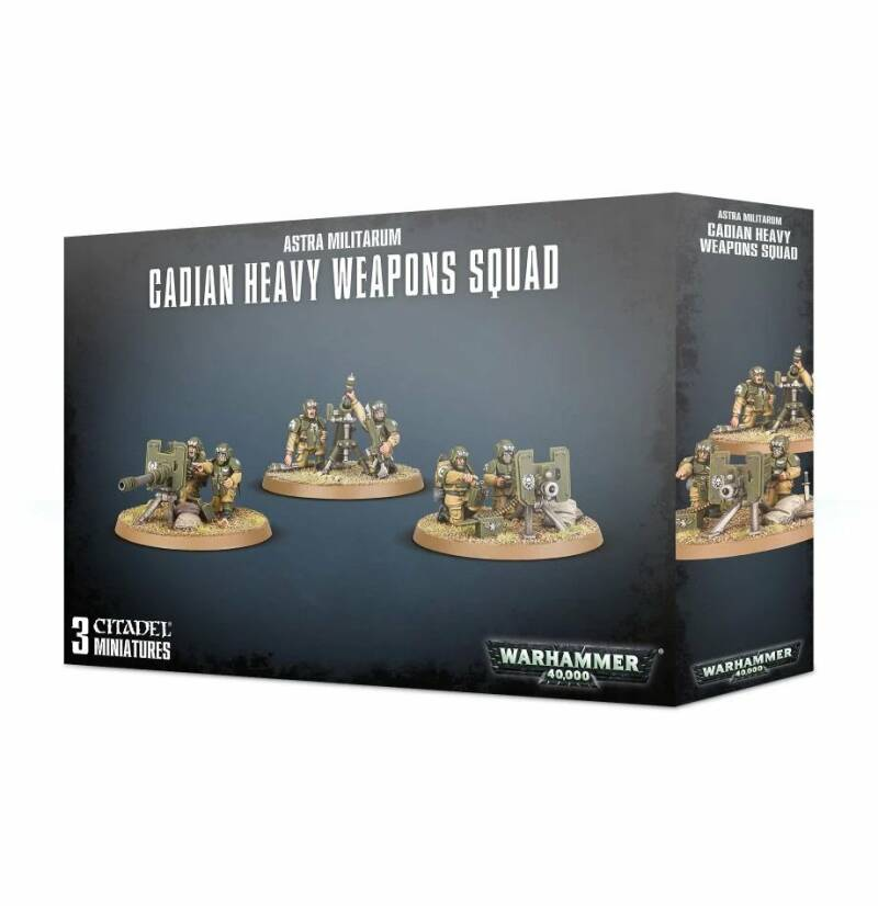 Warhammer 40K - Astra Militarum - Cadian Heavy Weapons Squad (47-19)