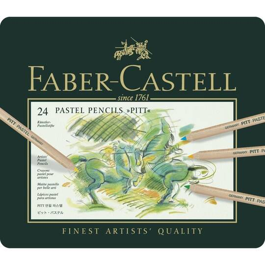Faber Castell Pitt® Pastel Pencils - Tin of 24