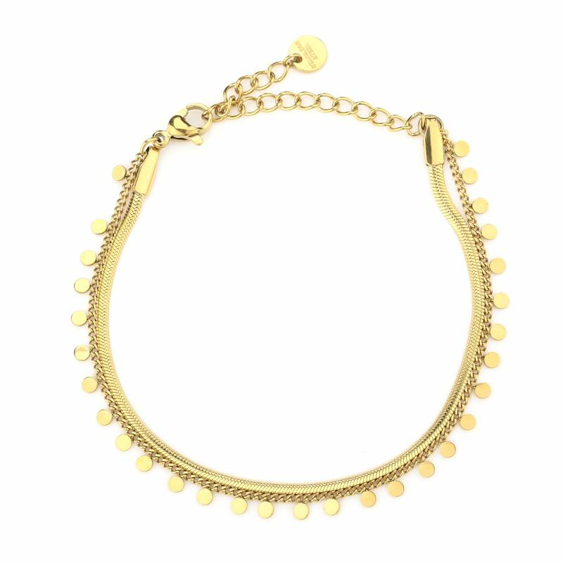 Armband - Double Cute Rounds - Goud