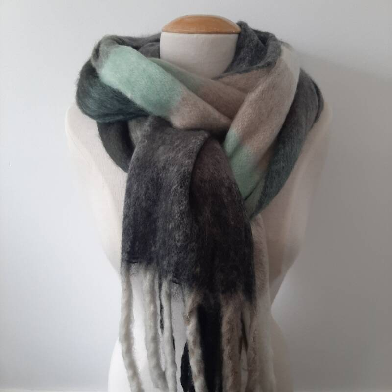 Sjaal winter - mix colors / groen