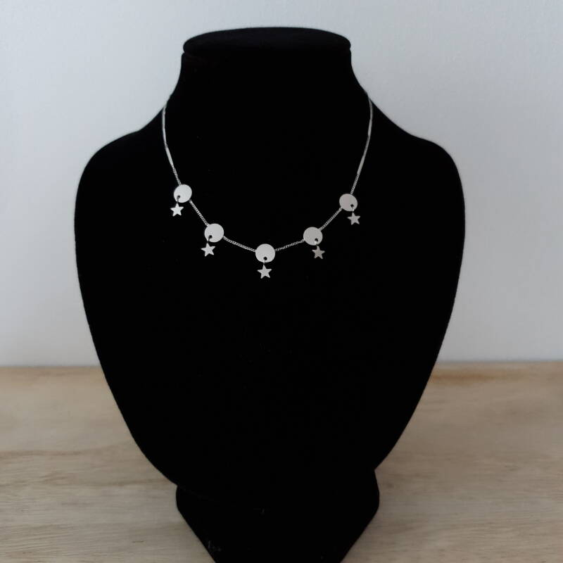 Ketting - around the stars / zilver