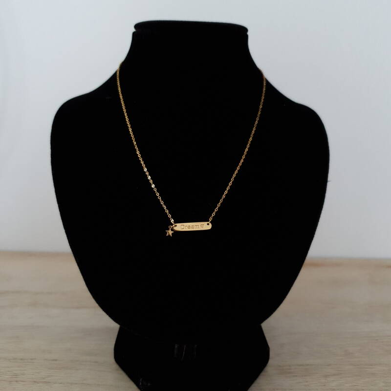Ketting - dream / goud