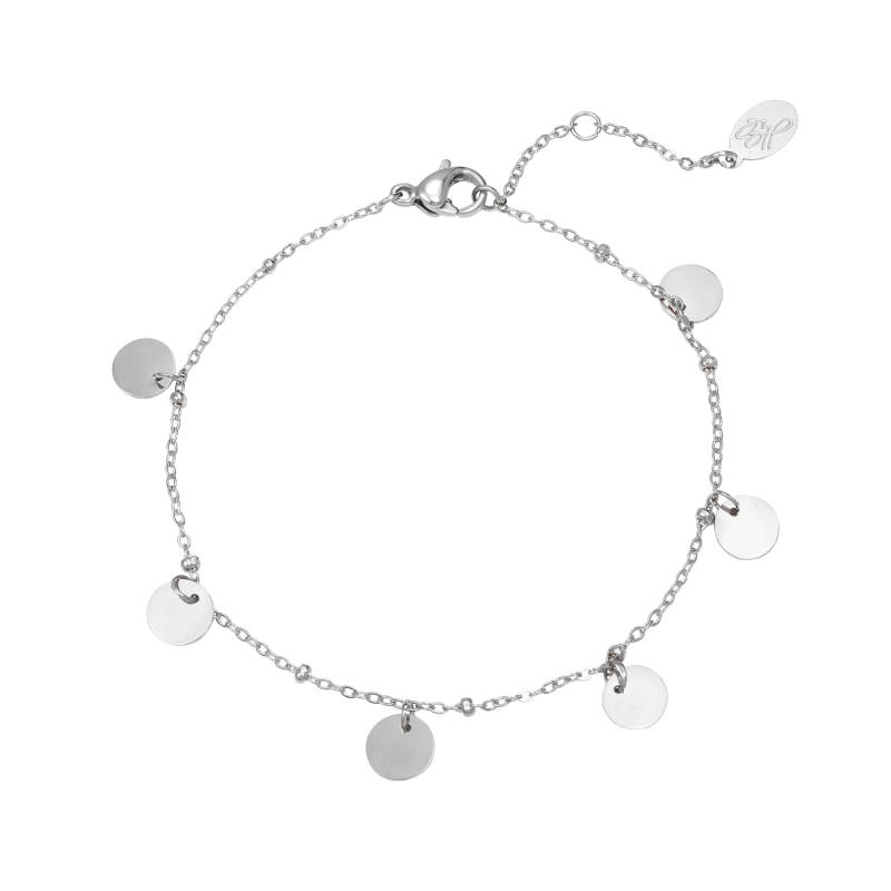 Armband round and round - zilver