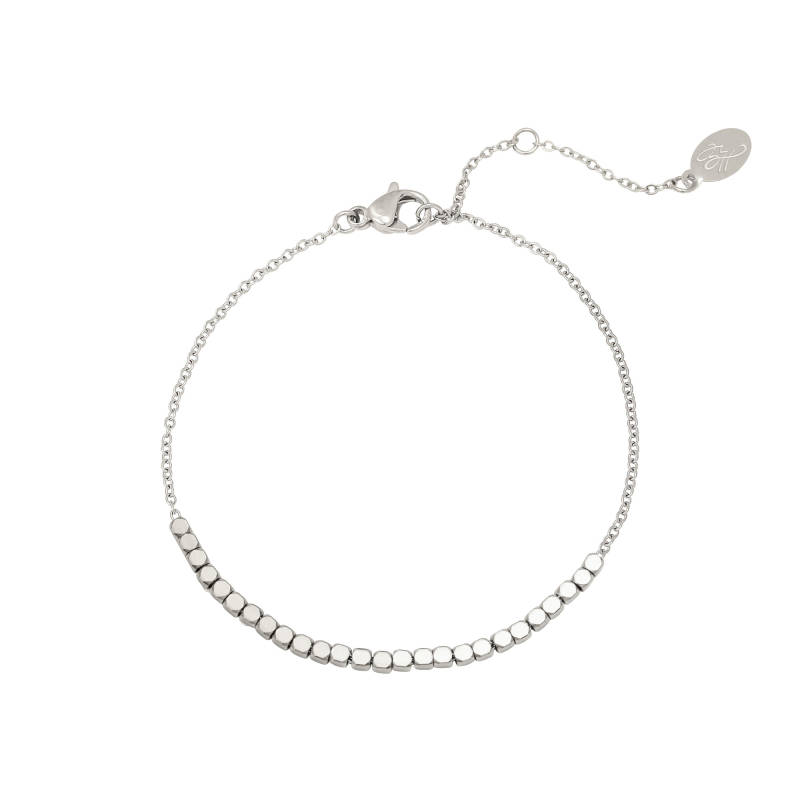 Armband - Line Of Dots - Zilver