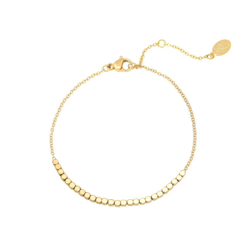 Armband - Line Of Dots - Goud