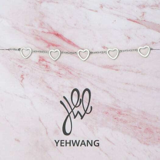 Armband - Love Open Extra Hearts - Zilver