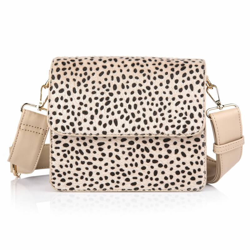 Crossbody Tas - Full Cheetah Print - Beige