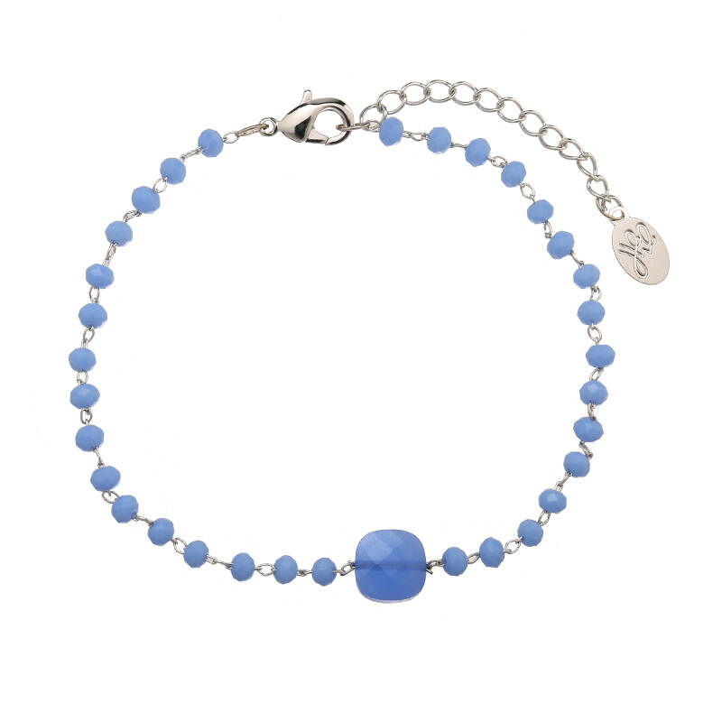 Armband all about the blue stones - zilver