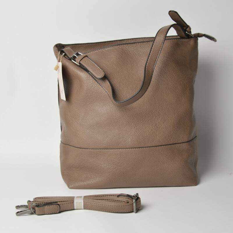 Tas bag in bag - effen model 2 - bruin