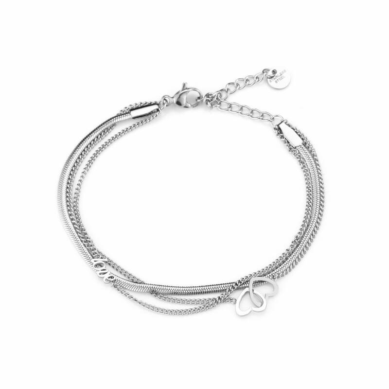 Armband - Double Love - Zilver
