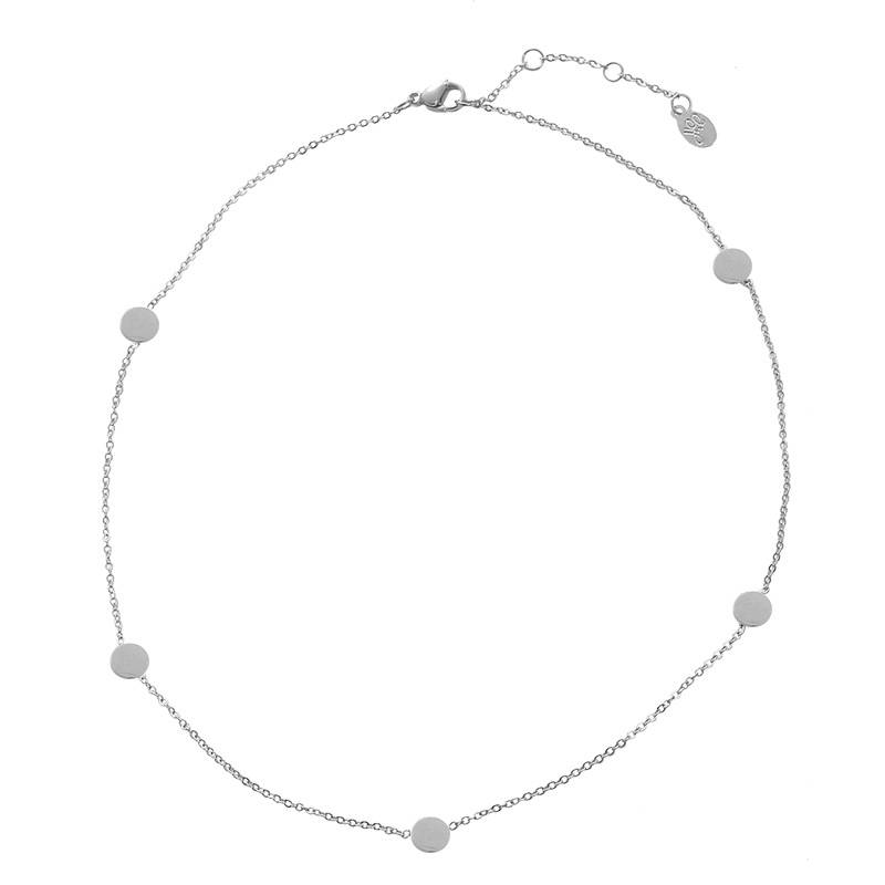 Ketting circle points - zilver