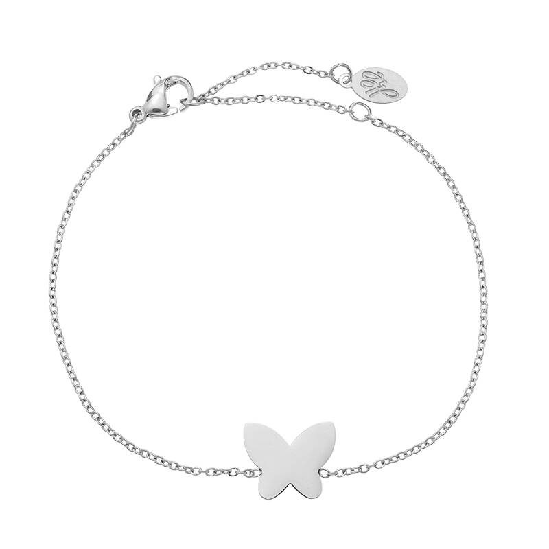 Armband beautiful butterfly - zilver