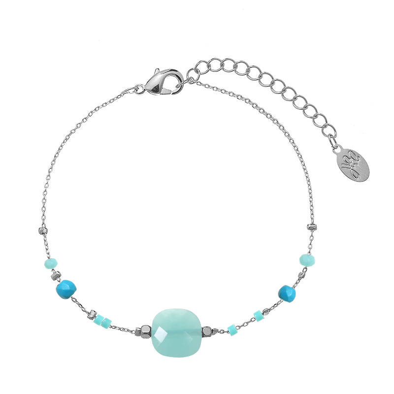 Armband lovely beads- zilver