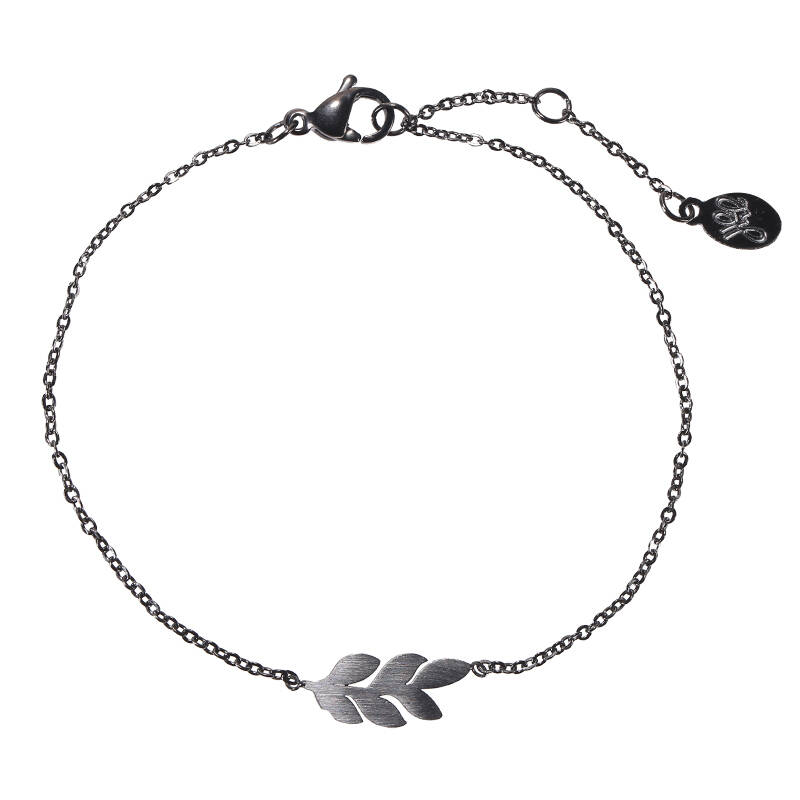 Armband sweet leaves - zwart
