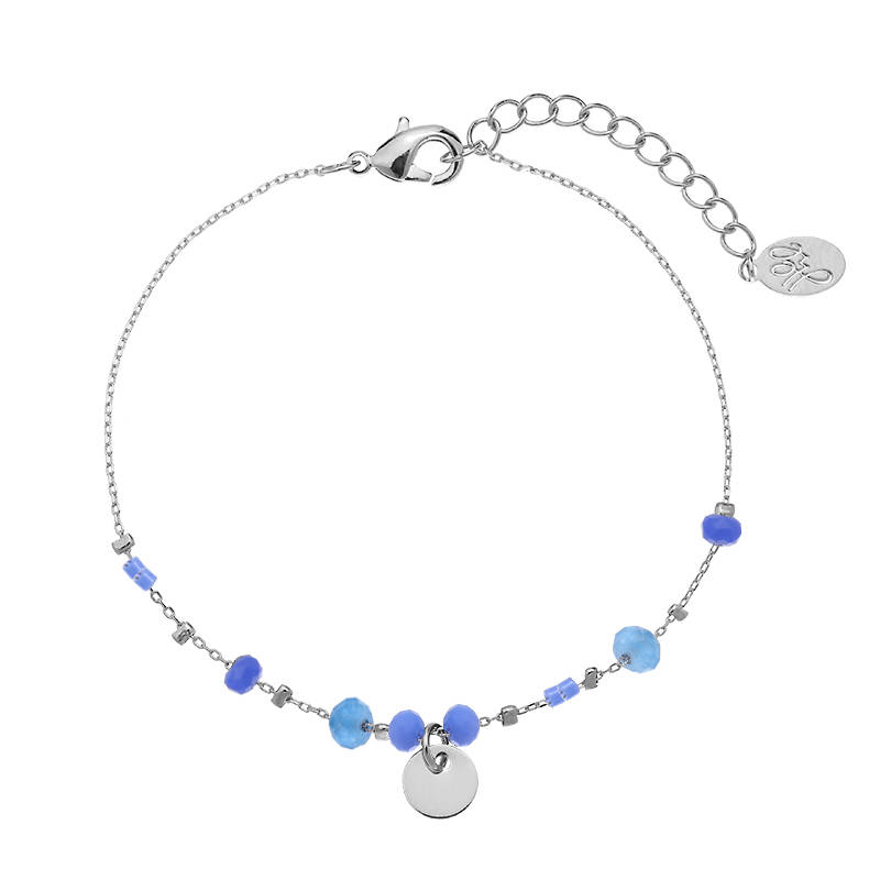 Armband blue sweety - zilver