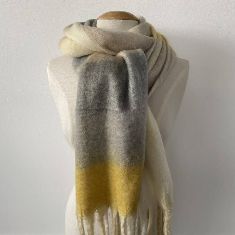 Sjaal winter - mix colors / geel