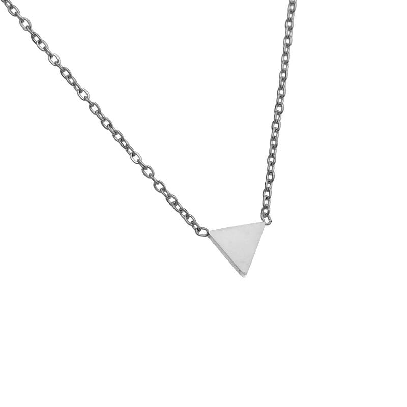 Ketting triangle - zilver