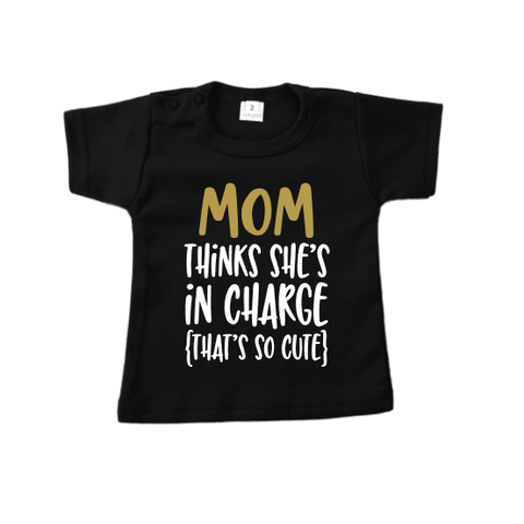 Shirt Mom in charge black
