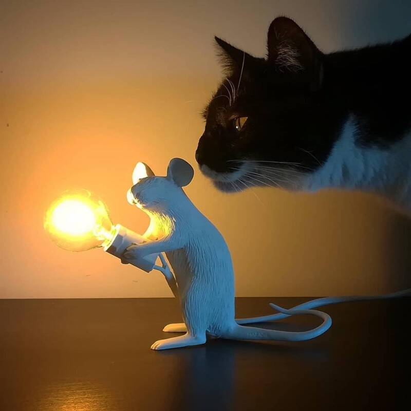 Mouse Lamp SITTING, white