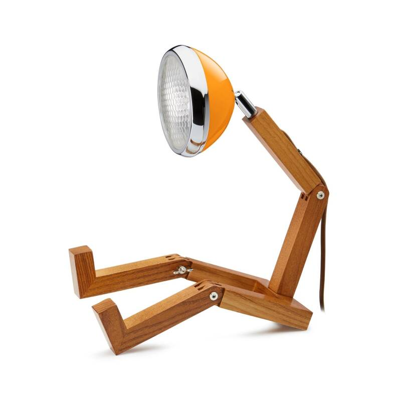 Wood figure LED lamp