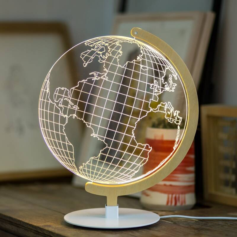 Optical illusion lamp GLOBE