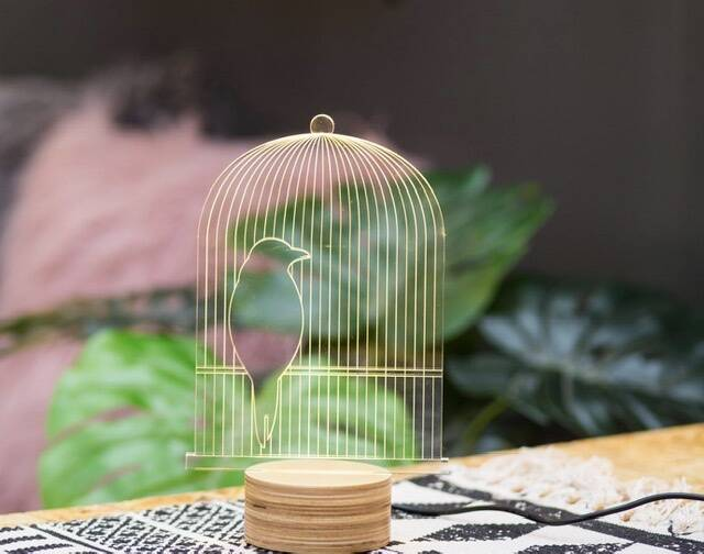 Optical illusion lamp BIRD CAGE