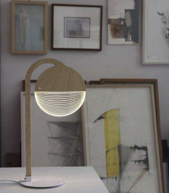 Optical illusion lamp 2D/3D