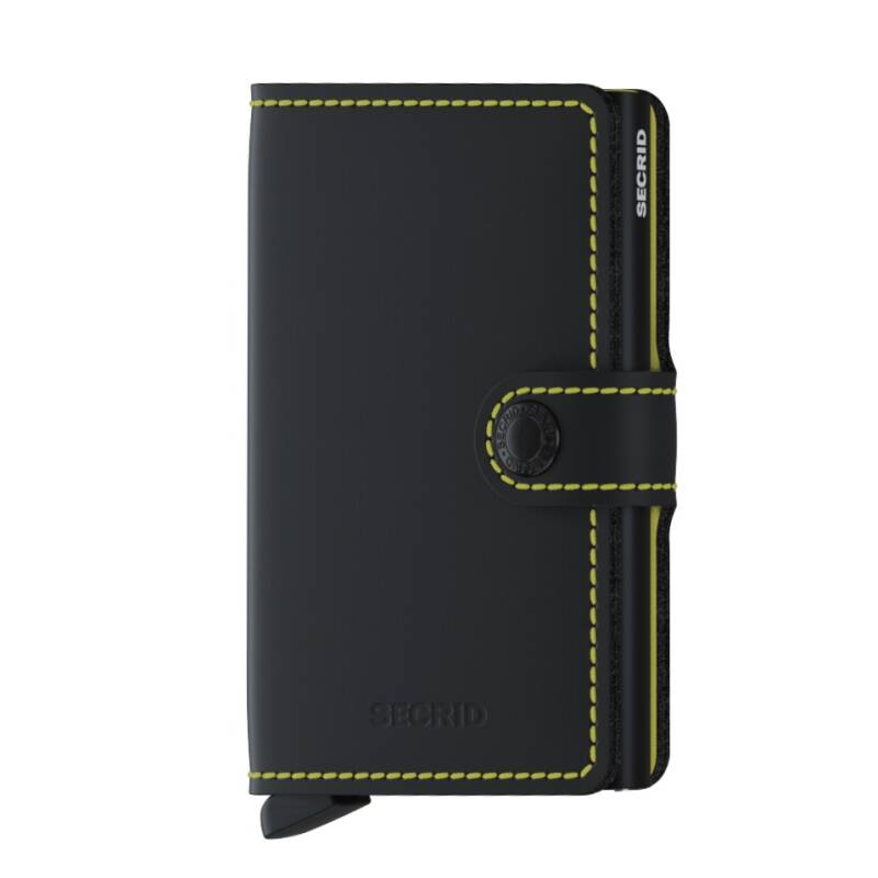 Miniwallet Matte Black Yellow