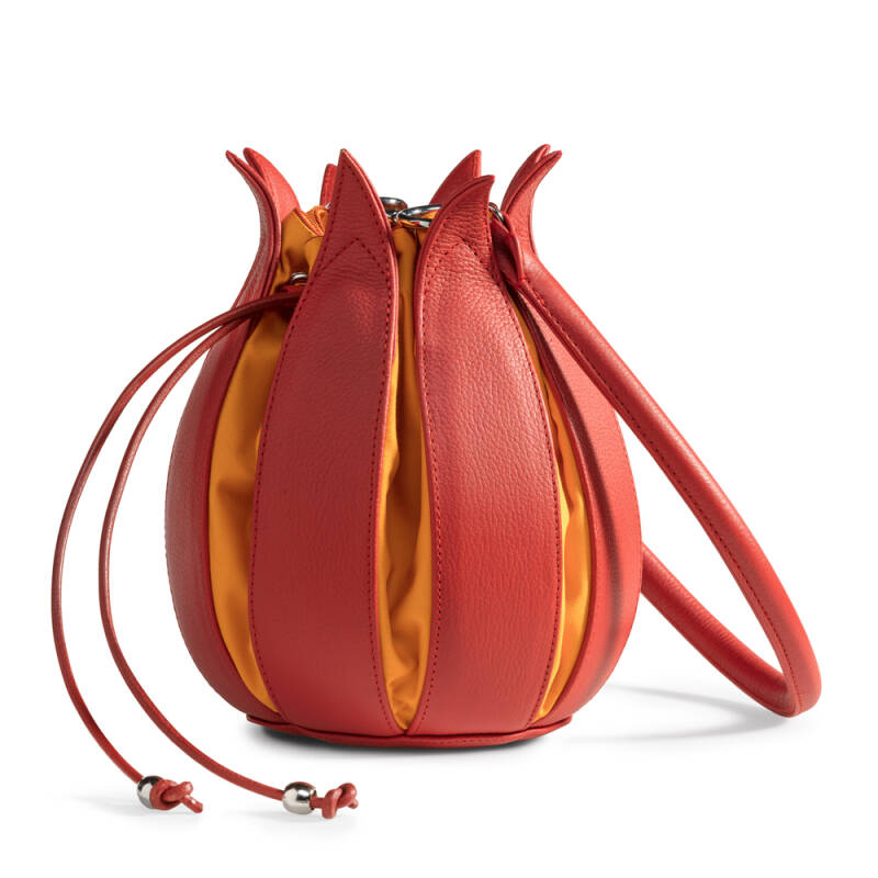 Tulip leather bag