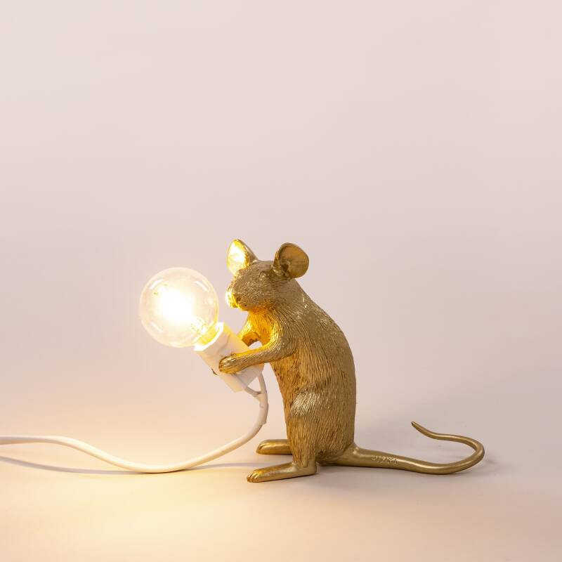 Mouse lamps SITTING, gold