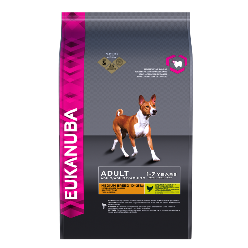 Eukanuba Dog Adult Medium Breed - Kip