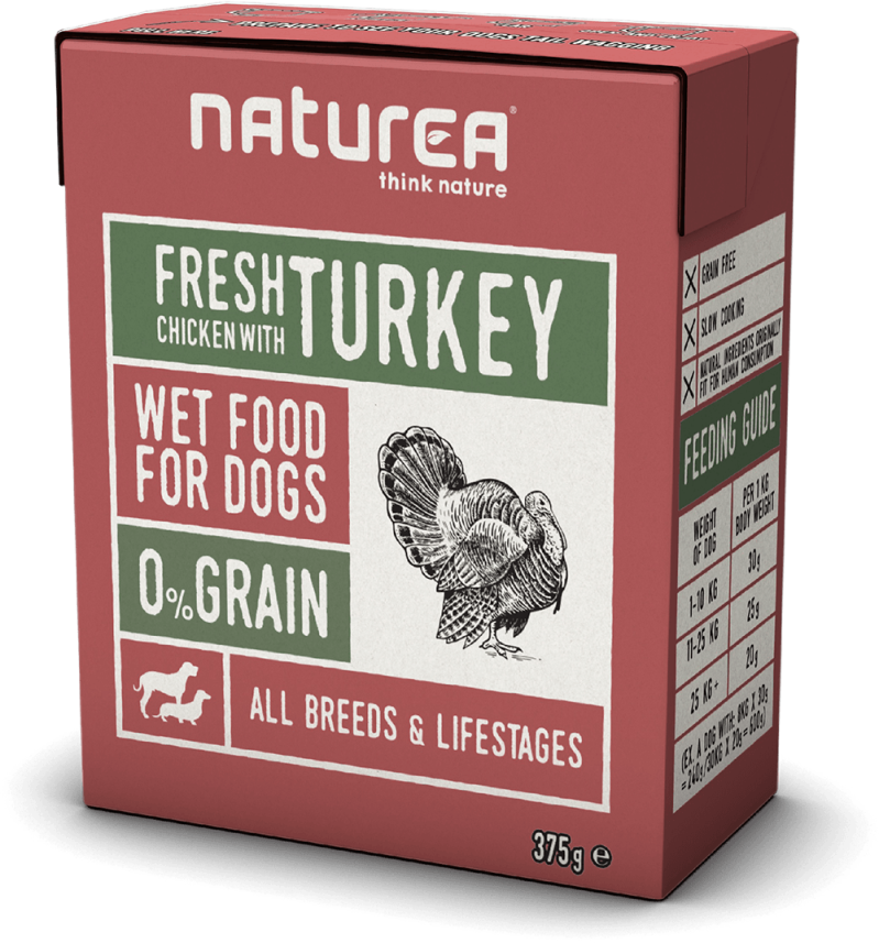 Naturea Dog Kip & Kalkoen (12x 375gr.) - 89% Vlees