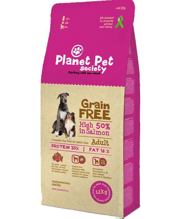 Planet Pet Dog Adult GRAANVRIJ - 50% Zalm