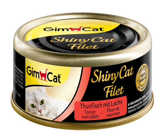 GimCat ShinyCat Filet tonijn + zalm 24x 70 gr.