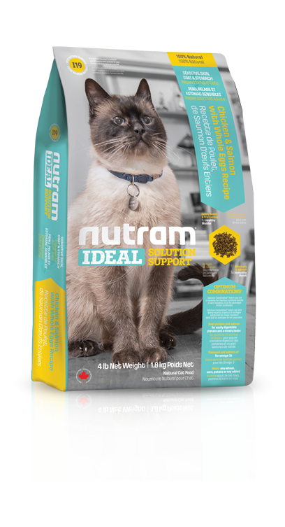 Nutram Kat Adult Sensitive I19 - Kip & Zalm - IDEAL