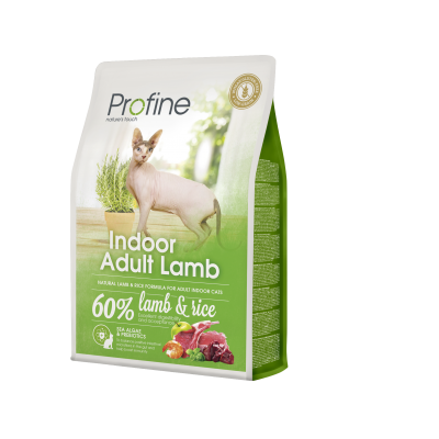 Profine Kat Indoor Adult Lam - 60% Lam & Rijst