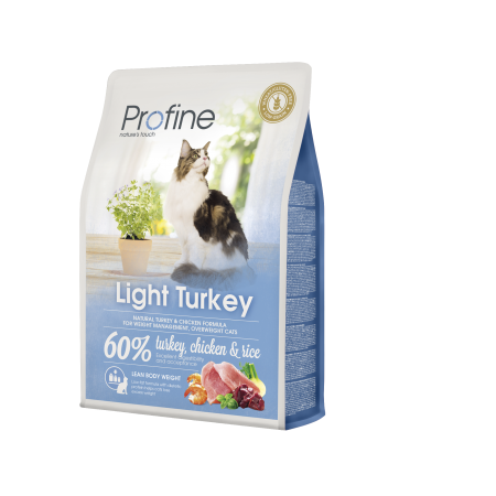 Profine Kat Adult Light Kalkoen - 60% Kalkoen, Kip & Rijst