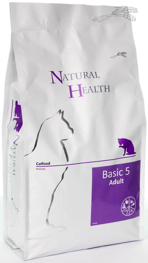 Natural Health Adult Catfood - Basic 5  - schijf van 5