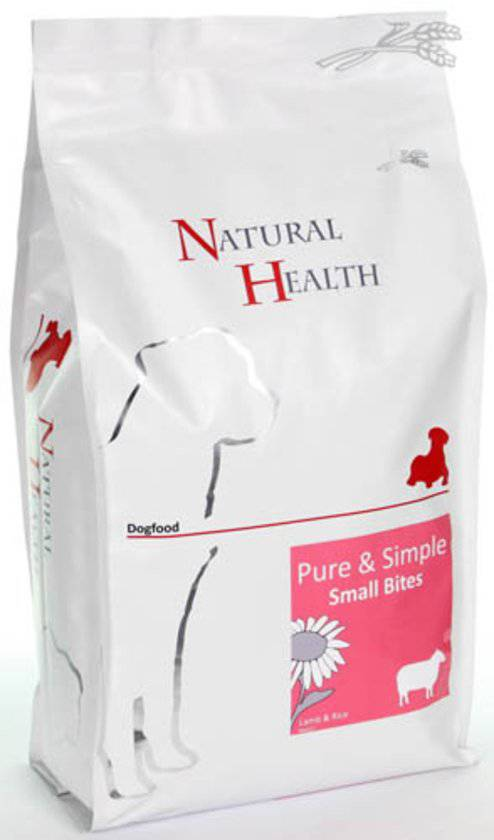 Natural Health Dog Adult Lam & Rijst Small Bites