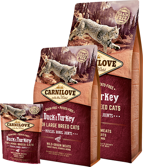 Carnilove Cat Duck & Turkey Adult - Large Breed