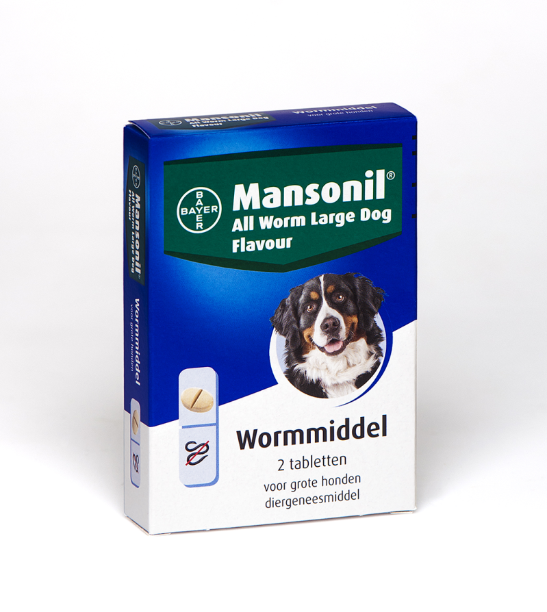 Mansonil All Worm Large Dog Flavour - 35 kg. - 2 tabl.
